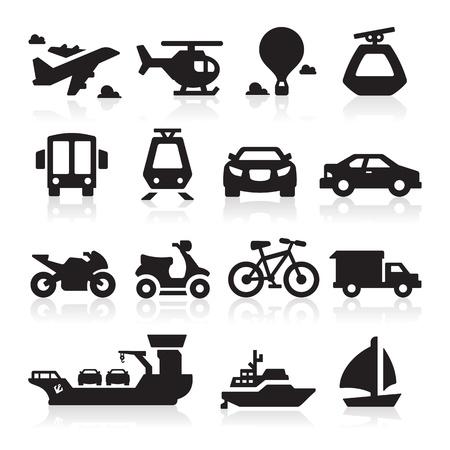 vespa: Iconos de transporte