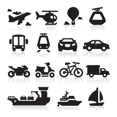 Transportation icons Stock Vector - 15472864