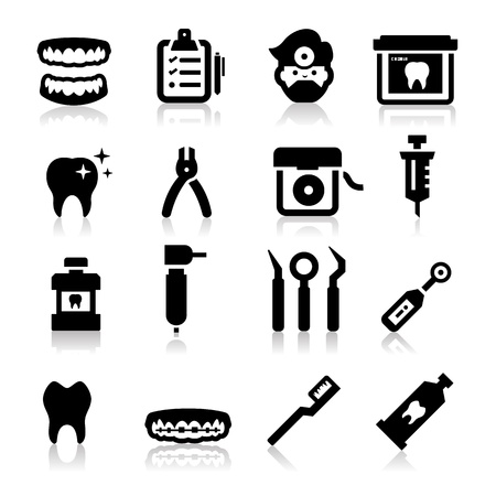 mouthwash: Dental Icons Illustration