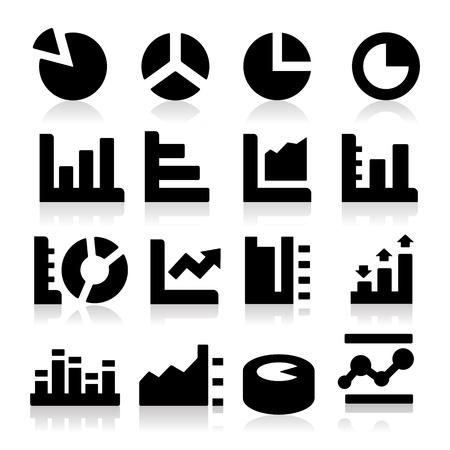 grafica de pastel: Diagramas de iconos