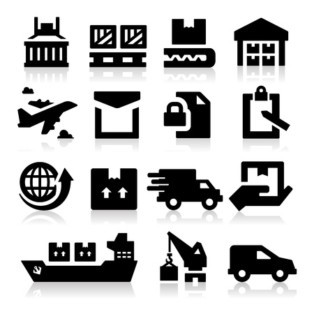 envelop: Shipping icons Illustration