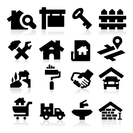 Key icon: Real estate Illustration