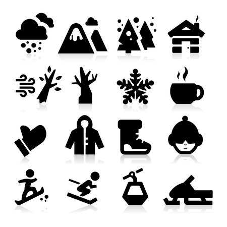 winter season: Winter icons