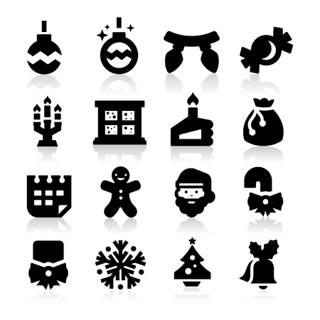 Christmas icons Three Vector