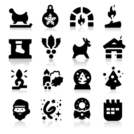 Christmas icons two  Vector