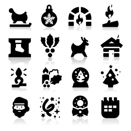 stoking: Christmas icons two  Illustration