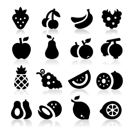 blackberry fruit: Fruits icons