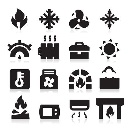 ebullition: Ic�nes de chauffage Illustration