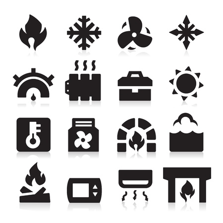 Verwarming pictogrammen