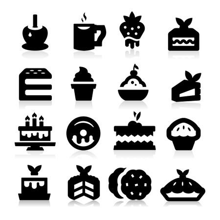 pastel de manzana: Iconos Postres