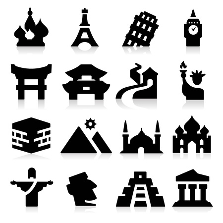 Landmarks Two Icons Vector