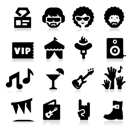 fun festival: Party Icons Illustration