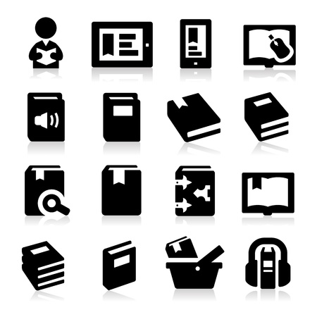 electronic publishing: Book icons Illustration