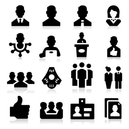 Manager Icons Stock Vector - 17794096