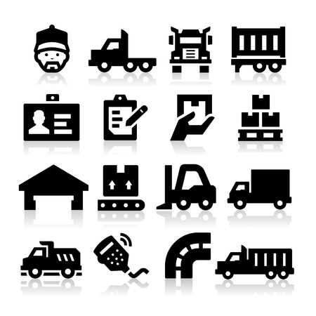 trucking: Truck icons Illustration