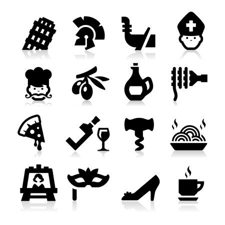 cultura italiana: Icone della cultura italiana Vettoriali