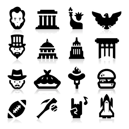 American Culture Icons Stock Vector - 17794110