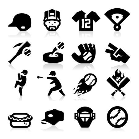 Icônes de base-ball Vecteurs
