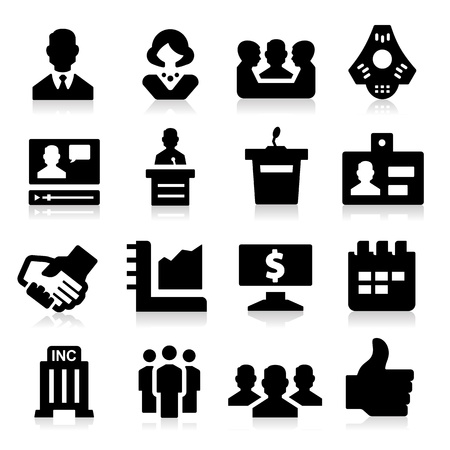 lecturing: Business   Meeting Icons