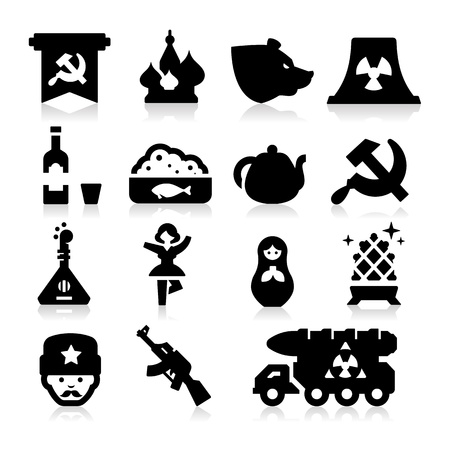 Russian Culture Icons Vector