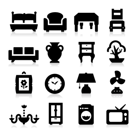 lamp silhouette: Furniture Icons