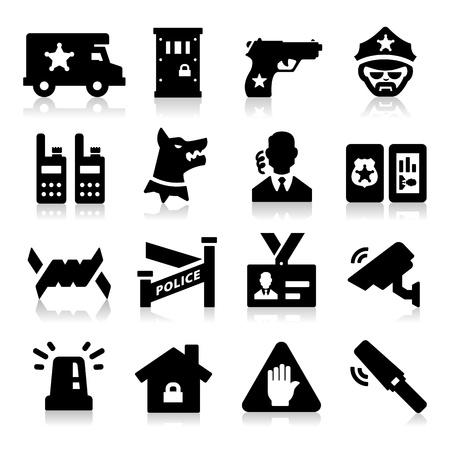 guardia de seguridad: Iconos de seguridad Vectores