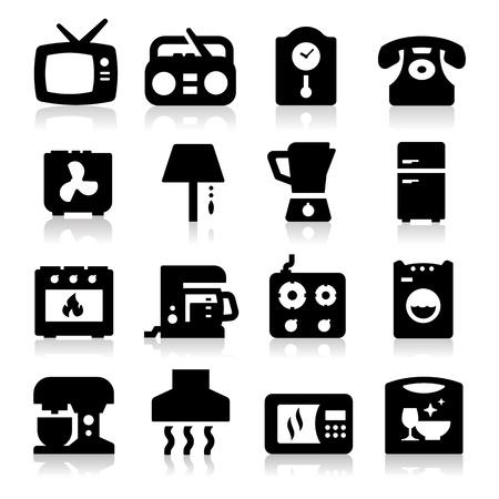 home appliances: Electrodom�sticos Iconos Inicio