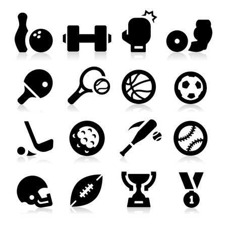 Sports Equipment Icons Vector