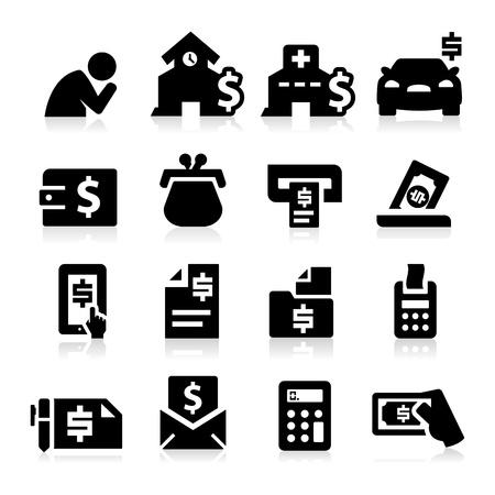 Rekeningen Iconen Vector Illustratie