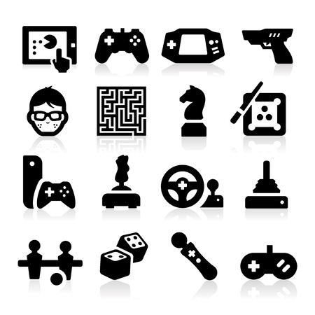 game boy: Entertaining Icons Illustration
