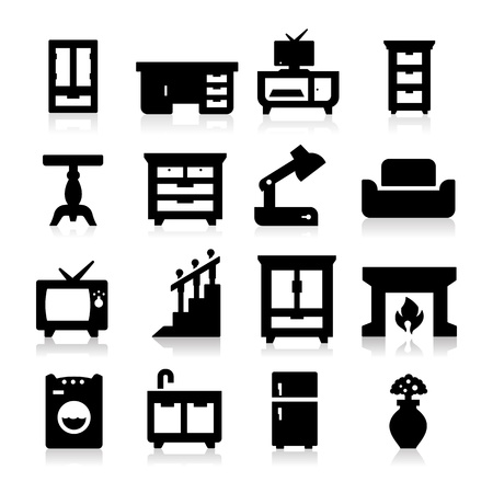 Furniture Icons Stock Vector - 19187493