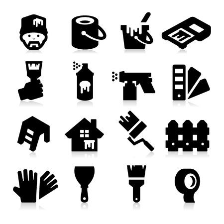 Peinture des icônes Vecteurs