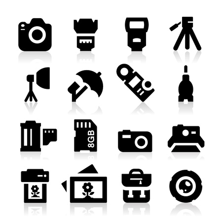 Photography Icons Stock Vector - 19187503