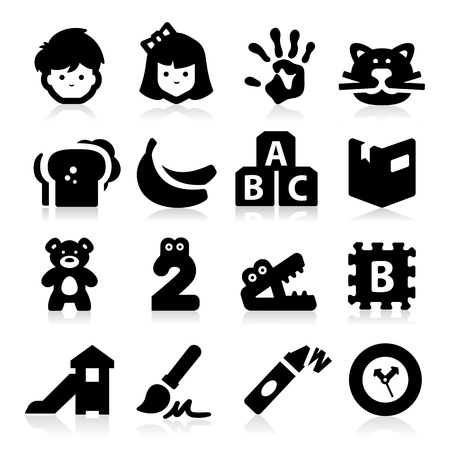 kids and toys: Preschool Icons