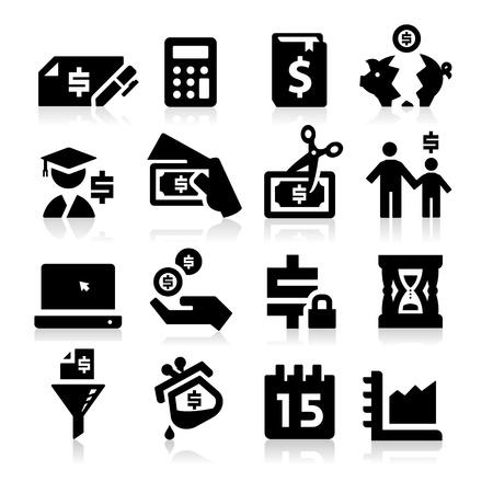 gastos: Iconos de Impuestos Vectores