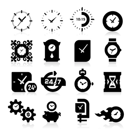 round face: Time Icons