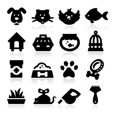 Pet and Animals Icons Vector