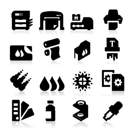impresora: Iconos de impresión