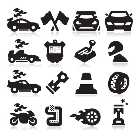 Racing Iconen Vector Illustratie
