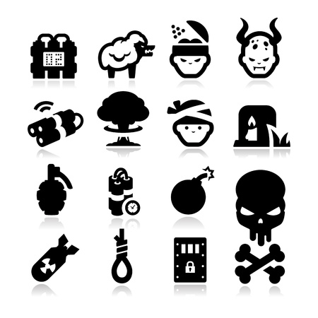 Terrorism Icons Stock Vector - 19728795