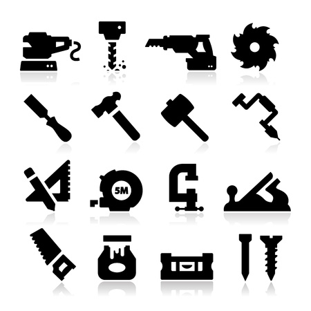 Carpentry Icons Stock Vector - 20494256