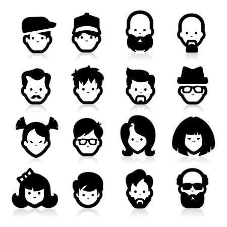 People Icons three Vector