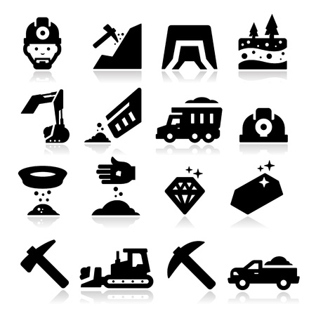 Mining Icons Stock Vector - 20735671