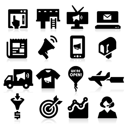Marketing Icons Stock Vector - 20735672