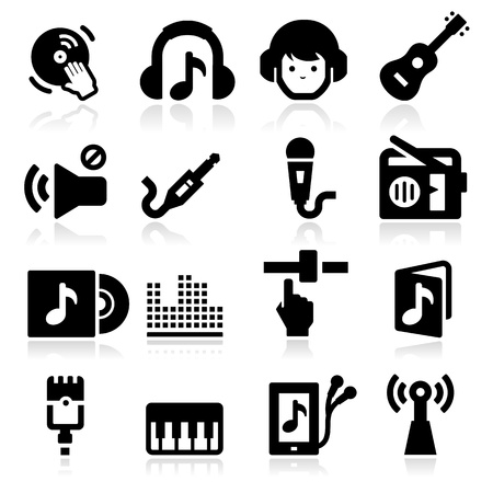 Music Icons two Vector