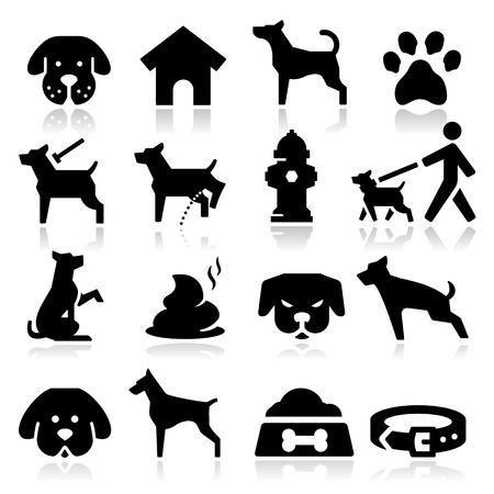 犬のアイコン  イラスト・ベクター素材