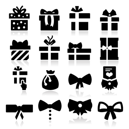 gift wrapped: Gift Icons Illustration