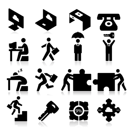 Business Icons three Vector