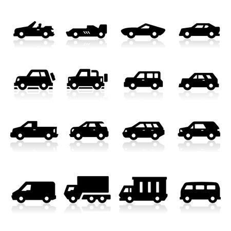 mini van: Cars Icons three Illustration