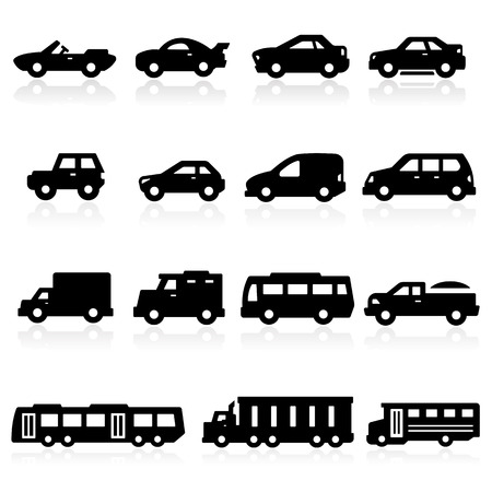 mini van: Cars Icons two Illustration